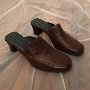 90s Vintage Leather Mules
